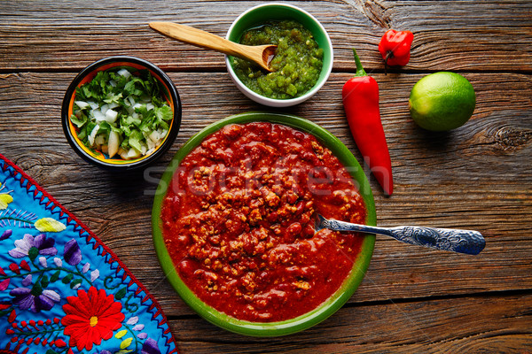 Chili with meat platillo Mexican food Stock photo © lunamarina