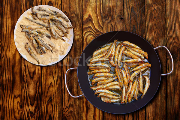 Mediterráneo frito España restaurante petróleo comer Foto stock © lunamarina