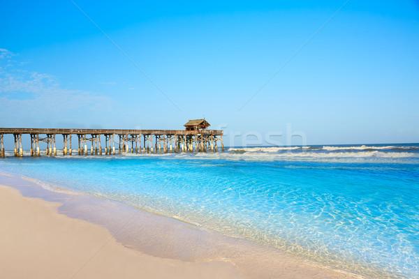 пляж пирс Флорида Орландо воды пейзаж Сток-фото © lunamarina