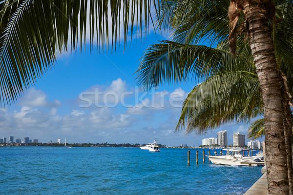 Miami Beach from MacArthur Causeway Florida Stock photo © lunamarina