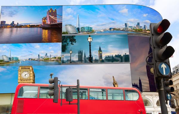 Circus Londen digitale mijn eigen Stockfoto © lunamarina