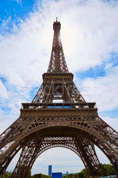 Eyfel Kulesi Paris Fransa gökyüzü şehir mavi Stok fotoğraf © lunamarina