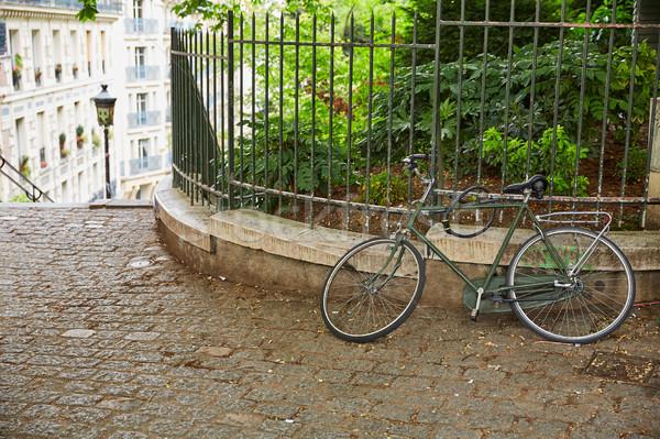 Fiets Parijs montmartre Frankrijk stad kunst Stockfoto © lunamarina