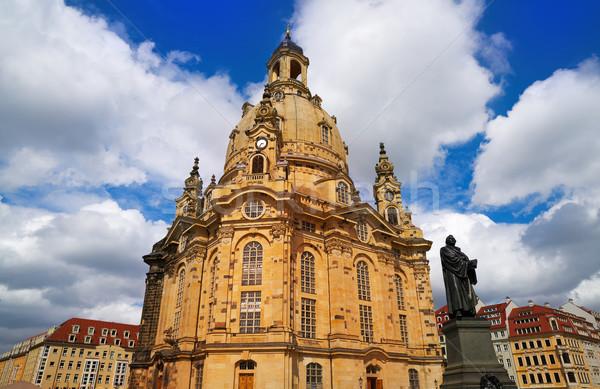 Дрезден Церкви Германия город портрет черный Сток-фото © lunamarina