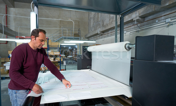Calender transfer machine production operator man Stock photo © lunamarina