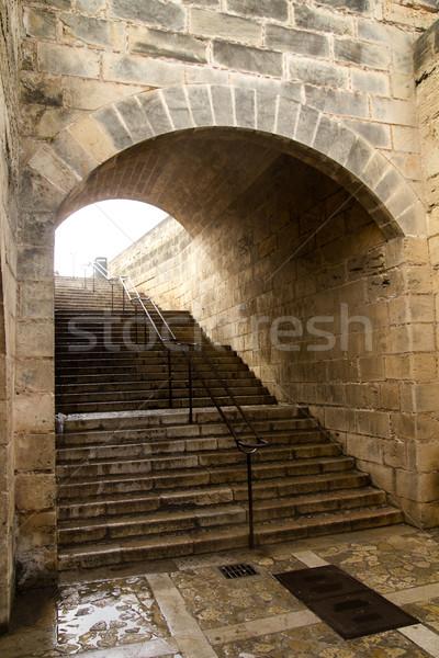 大聖堂 トンネル 手のひら 教会 城 インテリア ストックフォト © lunamarina