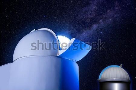 Csillagászati kupola csillagok éjszaka izzó fény Stock fotó © lunamarina