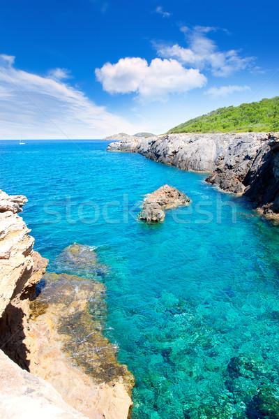 Ibiza island Canal d en Marti Pou des Lleo beach Stock photo © lunamarina