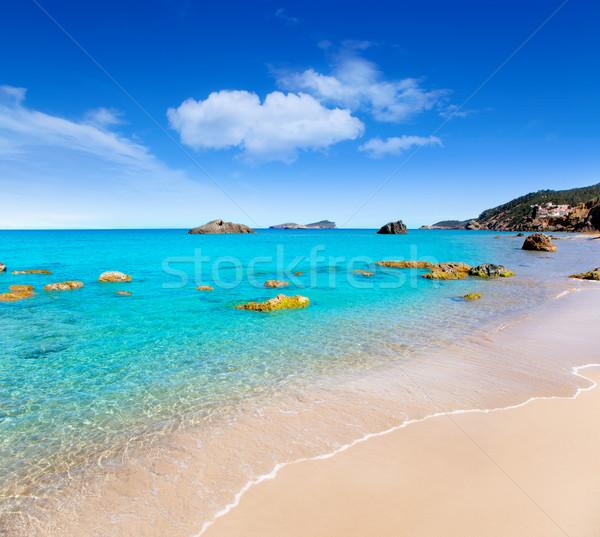 Aiguas Blanques Agua blanca Ibiza beach Stock photo © lunamarina
