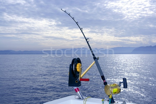 Downrigger boat gear saltwater trolling tackle Stock photo © lunamarina