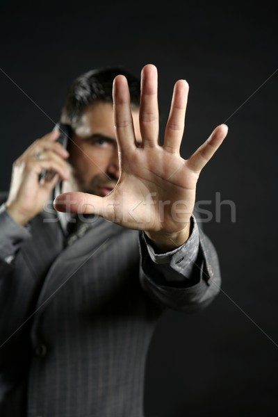 Angry businessman saying stop, hand Stock photo © lunamarina