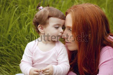 beautiful mother and baby little girl outdoor Stock photo © lunamarina