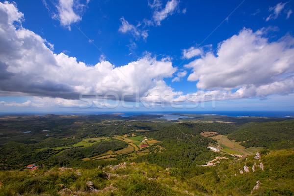 Menorca North aerial view from Pico del Toro Stock photo © lunamarina