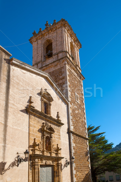 Benassal church facade Benasal in Maestrazgo Castellon Stock photo © lunamarina
