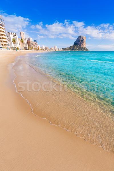 Calpe playa Arenal Bol beach near Penon Ifach Alicante Stock photo © lunamarina