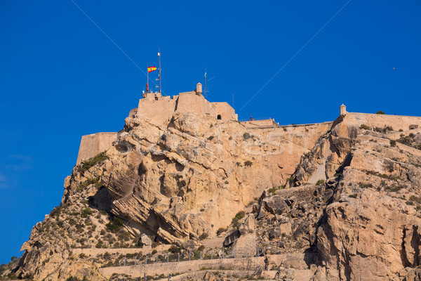 Alicante Santa Barbara castle in Mediterranean spain Stock photo © lunamarina