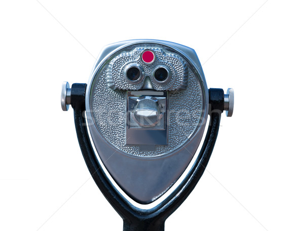 Odizolowany teleskop monet pracy kwartał tle Zdjęcia stock © lunamarina
