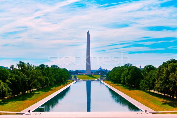 Washington Monument morning reflecting pool Stock photo © lunamarina