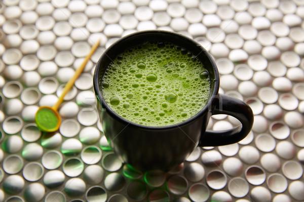 зеленый чай Япония нержавеющая сталь современных природы фон Сток-фото © lunamarina