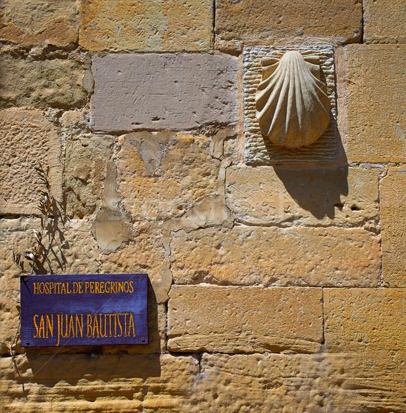 Granon pilgrims Hospital in The way of Saint James Stock photo © lunamarina