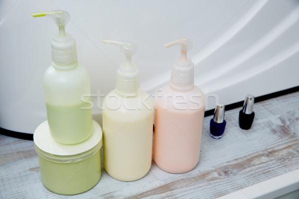 Pedicure behandeling producten nagels salon rij Stockfoto © lunamarina
