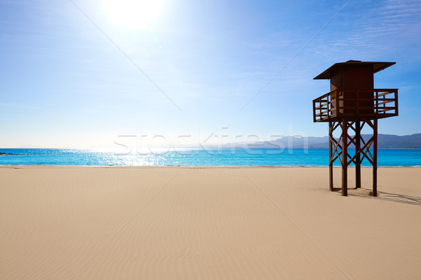 Strand Valencia Spanje middellandse zee hemel water Stockfoto © lunamarina