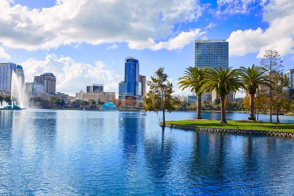 Orlando horizonte lago Florida EUA palmeras Foto stock © lunamarina
