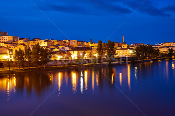 Zamora skyline at sunset by Duero river Spain Stock photo © lunamarina