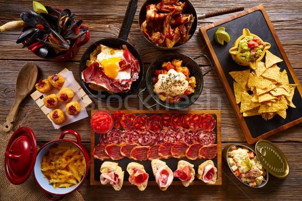 Tapas from Spain varied mix Stock photo © lunamarina