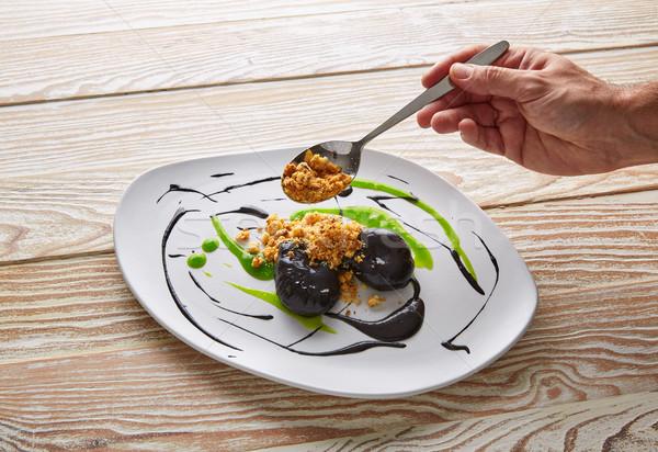 Molekularny majonez cytrus żywności tle kuchnia Zdjęcia stock © lunamarina