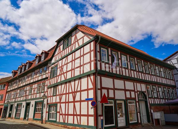 Nordhausen downtown facades Thuringia Germany Stock photo © lunamarina