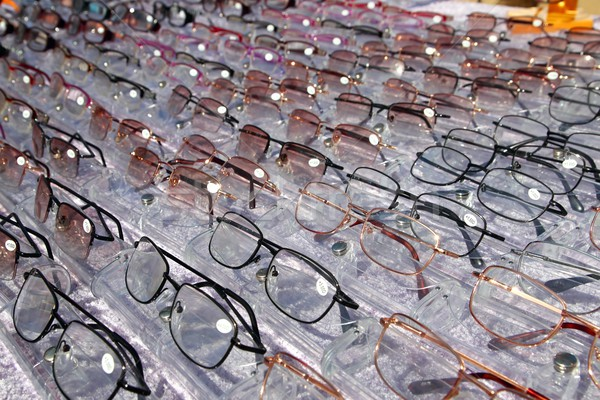 glasses for close up view in rows many eye glasses Stock photo © lunamarina