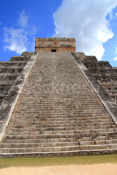 Чичен-Ица пирамида Мексика небе здании каменные Сток-фото © lunamarina