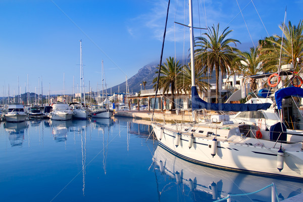 Denia marina port boats and Mongo Stock photo © lunamarina