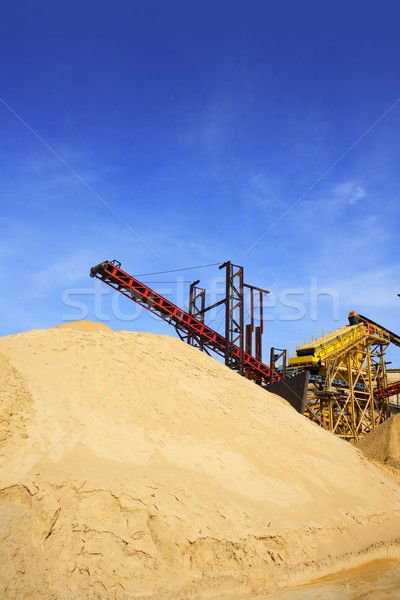 construction sand quarry stock mountain machinery Stock photo © lunamarina