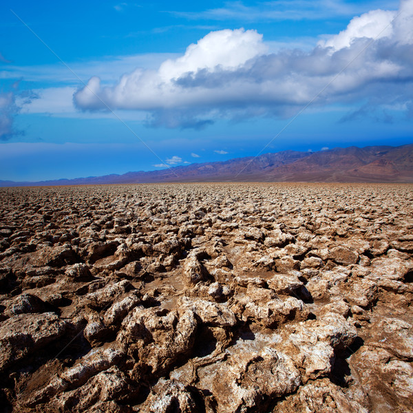 Devils golf course Death Valley salt clay formations Stock photo © lunamarina