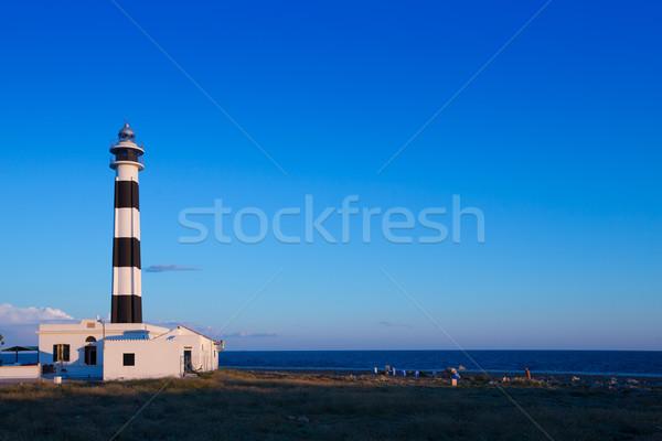 Kapak deniz feneri güneybatı doğa ışık deniz Stok fotoğraf © lunamarina