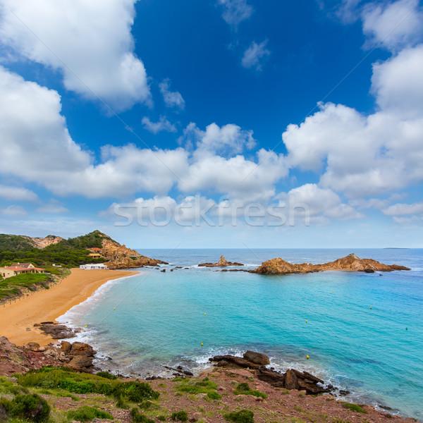 Stock photo: Cala Pregonda in Menorca at Balearic islands