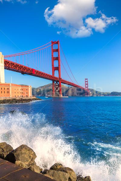Golden Gate Bridge San Francisco Califórnia EUA céu cidade Foto stock © lunamarina
