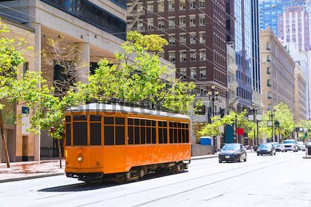 San Francisco Cable car Tram in Market Street California Stock photo © lunamarina