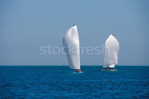 Voiliers régate voile mer eau Photo stock © lunamarina
