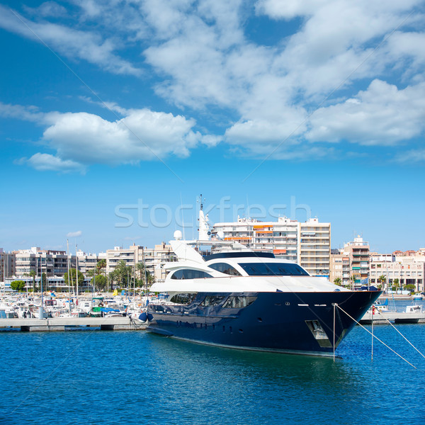 Alicante Santa Pola port marina from valencian Community Stock photo © lunamarina