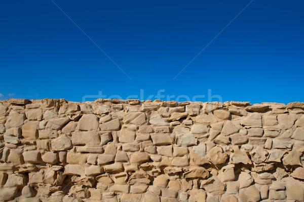 島 砦 メーソンリー 壁 詳細 スペイン ストックフォト © lunamarina