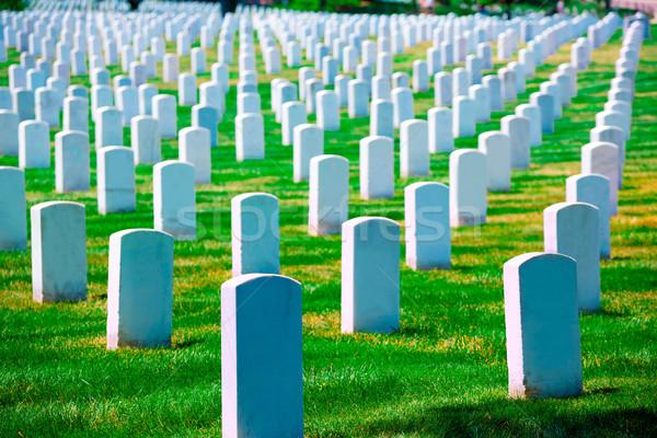 кладбище Вашингтон Виргиния Соединенные Штаты трава зеленый Сток-фото © lunamarina