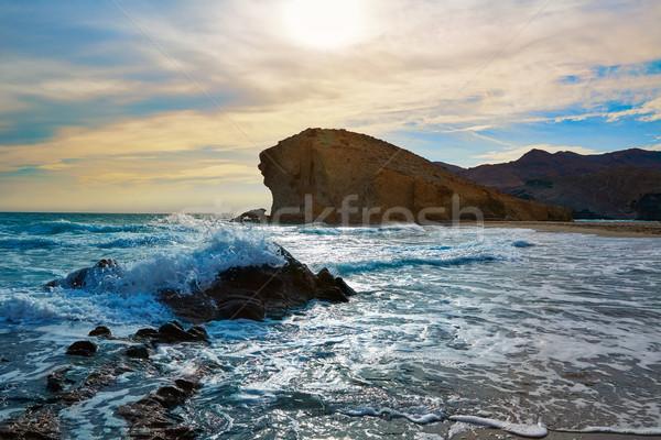 Almeria Playa del Monsul beach Cabo de Gata Stock photo © lunamarina