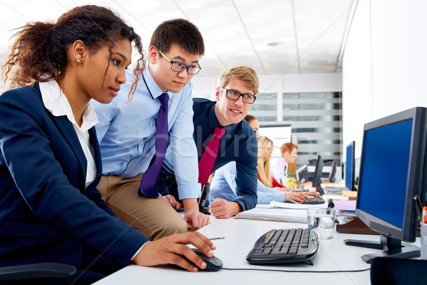 Business team young people multi ethnic teamwork Stock photo © lunamarina