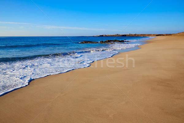 пляж Канарские острова Испания воды солнце пейзаж Сток-фото © lunamarina