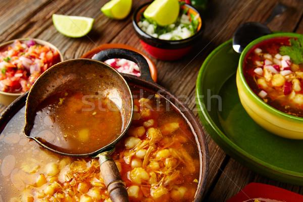 большой кукурузы тушеное мясо Мексика старые Сток-фото © lunamarina