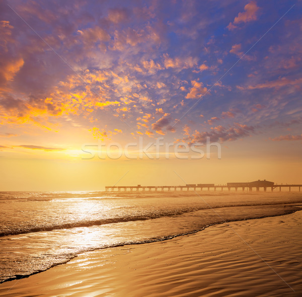 ビーチ フロリダ 桟橋 米国 海岸 水 ストックフォト © lunamarina