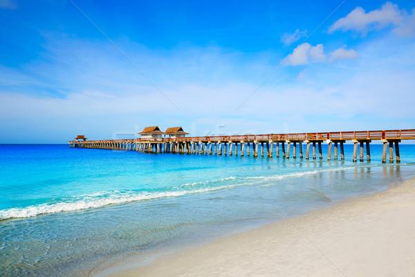 Неаполь пирс пляж Флорида США Сток-фото © lunamarina